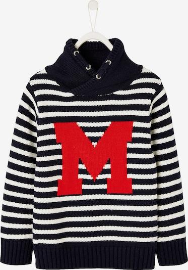 VERTBAUDET Sweatshirt in nachtblau / rot / weiß, Produktansicht