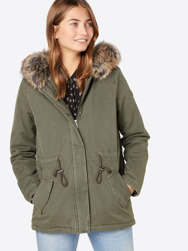 TOM TAILOR DENIM Winterparka 'cotton parka with fur collar'