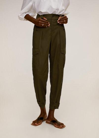 MANGO Hose in khaki, Modelansicht