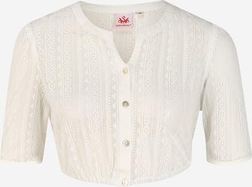SPIETH & WENSKY Dirndlbluse 'Hirse' in Weiß