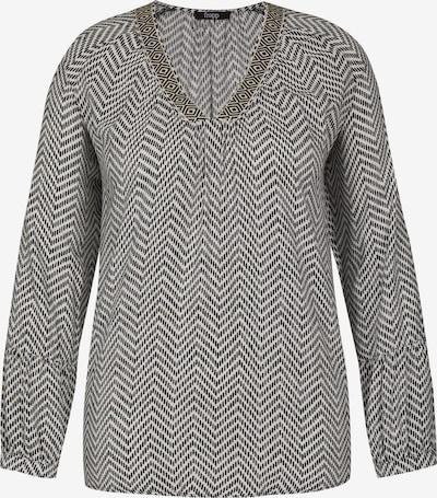 FRAPP Bluse in schwarz / weiß, Produktansicht
