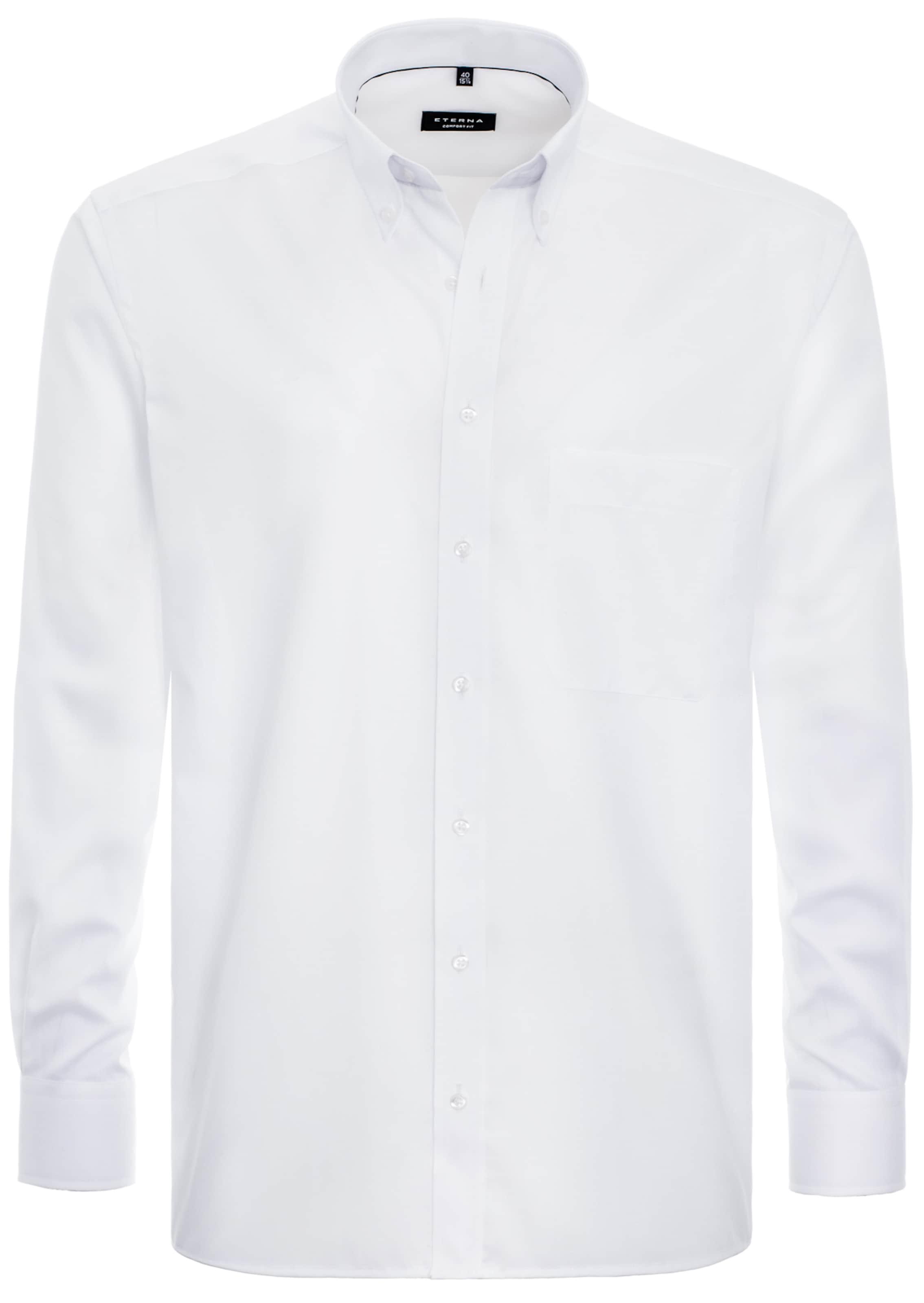 Hemd In Eterna Langarm Comfort Fit Weiß PXZiuk