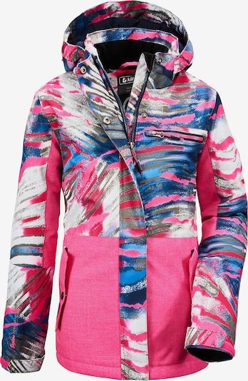 KILLTEC Jacke 'Lynge' in blau / grau / pink / weiß, Produktansicht