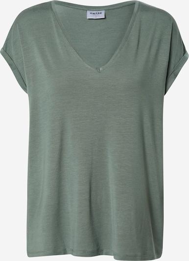 VERO MODA T-shirt 'VMAVA SS V-NECK TEE VMA NOOS' en bleu-gris, Vue avec produit