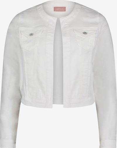 Cartoon Jeansjacke mit aufgesetzter Brusttasche in weiß, Produktansicht