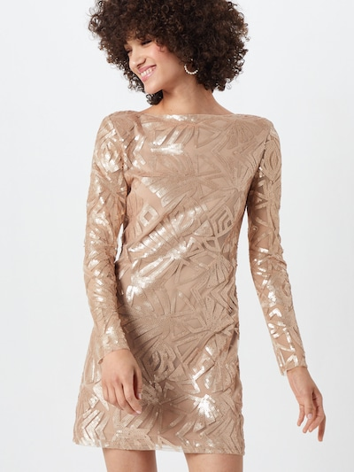 MICHALSKY FOR ABOUT YOU Kleid 'Joyce' in beige / gold, Modelansicht