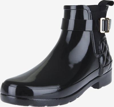 HUNTER Regenlaarzen 'REFINED GLOSS QUILT CHELSEA' in de kleur Zwart, Productweergave