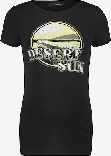 Supermom T-shirt 'Dessert Sun' en jaune clair / noir / blanc, Vue avec produit