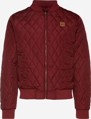 Urban Classics Between-season jacket 'Diamond Quilt' in Red