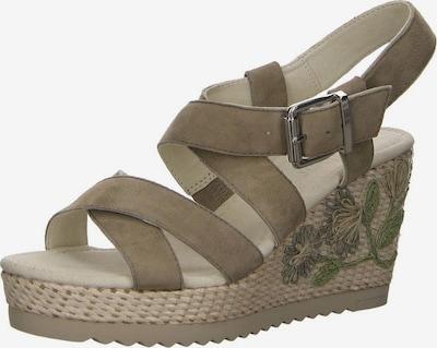 GABOR Sandale in braun / oliv, Produktansicht