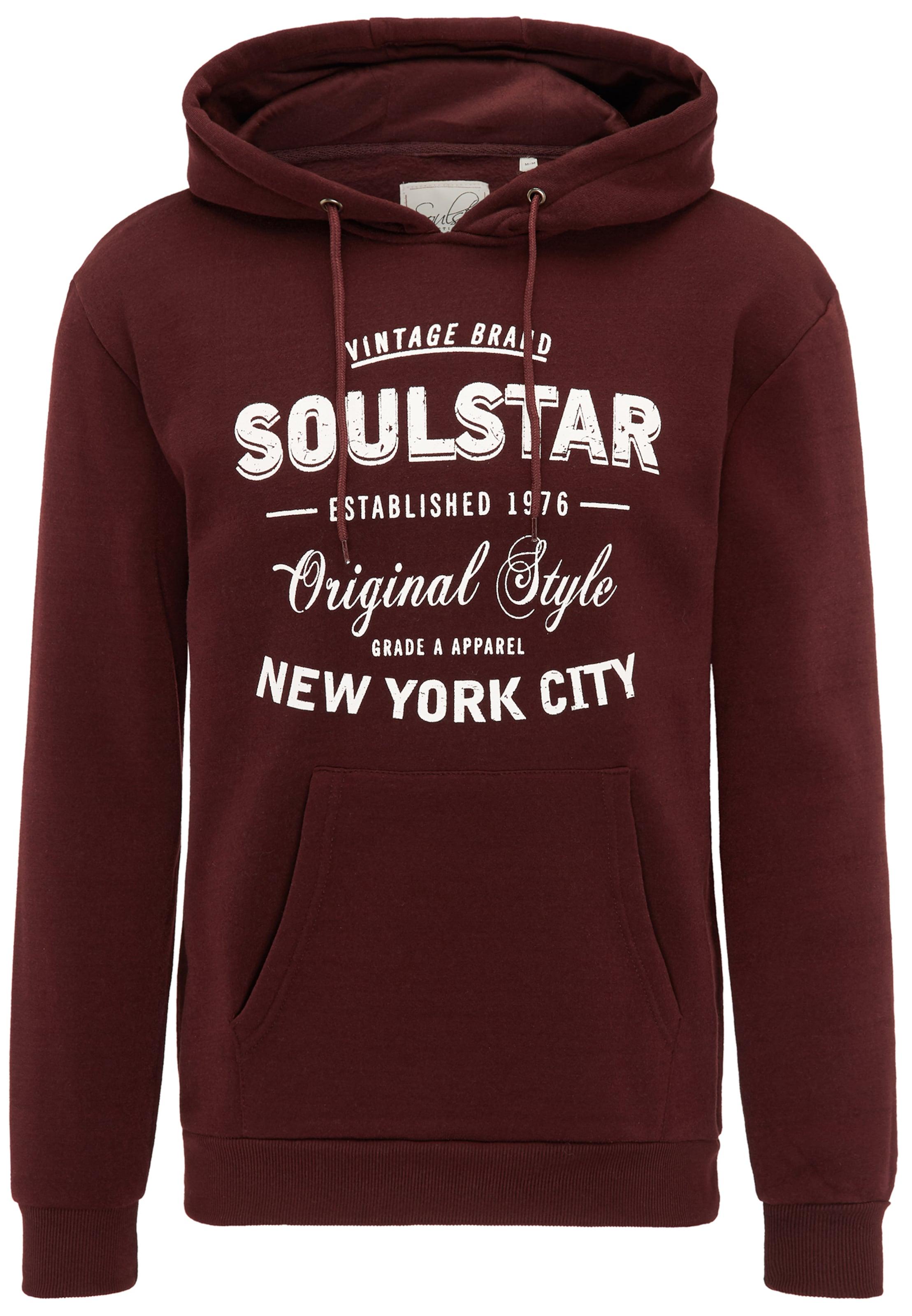 Sweat Rouge En Soulstar CeriseBlanc shirt nOPXN8w0k