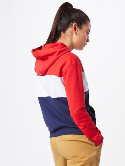 FILA Sweatshirt 'LORI' in navy / rot / weiß: Rückansicht