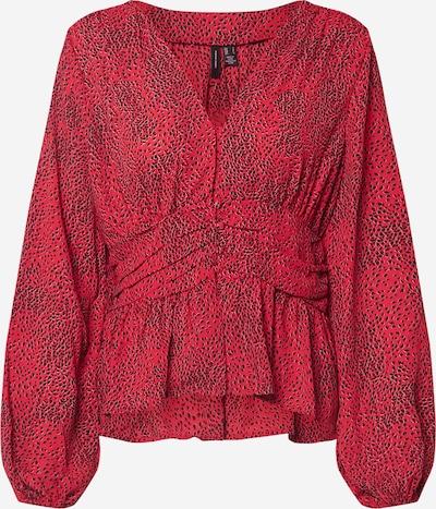 VERO MODA Blouse 'CASSIE ZIGGA L/S BUTTON' in de kleur Kersrood, Productweergave
