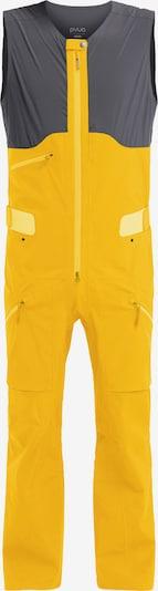 PYUA Sportbroek 'Continuum-Y' in de kleur Geel / Donkergrijs, Productweergave