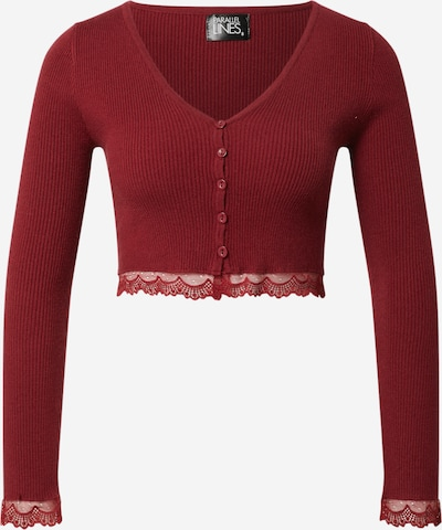Parallel Lines Shirt in de kleur Wijnrood, Productweergave