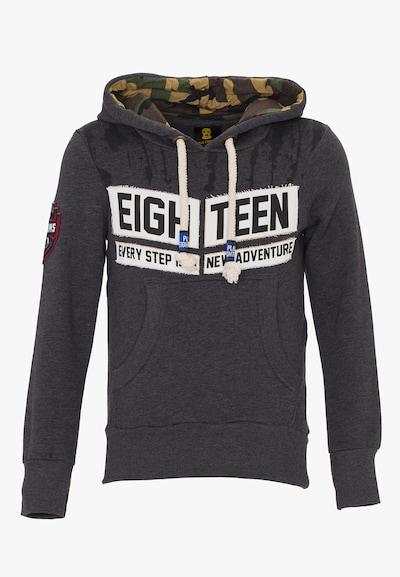 PLUS EIGHTEEN Sweatshirt in de kleur Antraciet / Offwhite, Productweergave