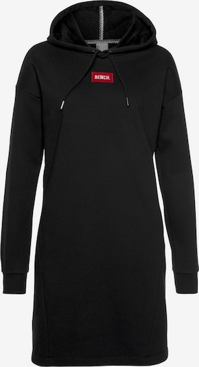 BENCH Sweatkleid »Bench Hooded Sweatdress« in schwarz, Produktansicht