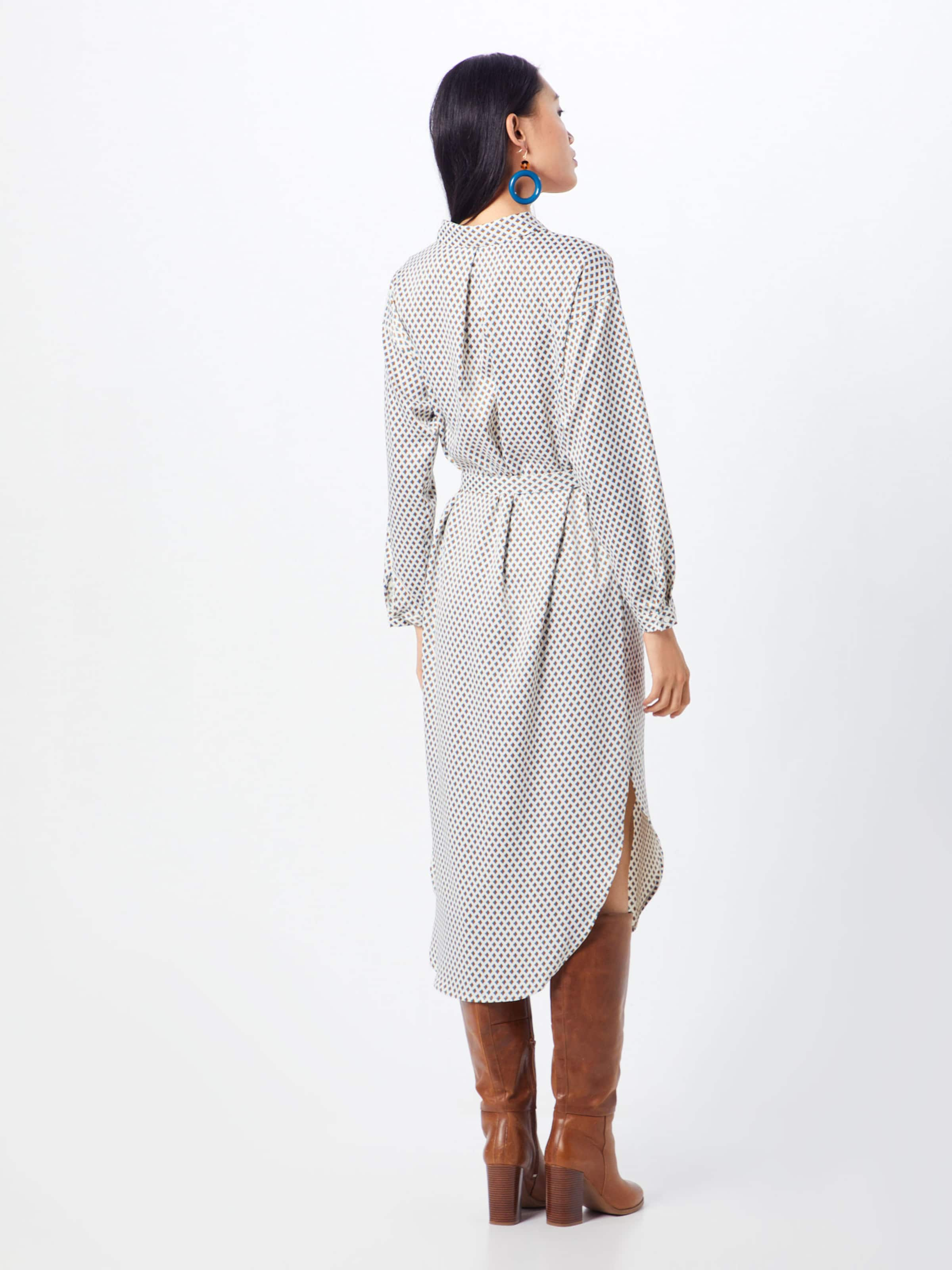 Moss Robe chemise En 'kimora Dress Karma Aop' Blanc BleuMarron Copenhagen WDYE9H2I