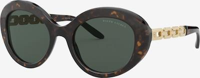 RALPH LAUREN Sonnenbrille in dunkelbraun / gold / schwarz, Produktansicht