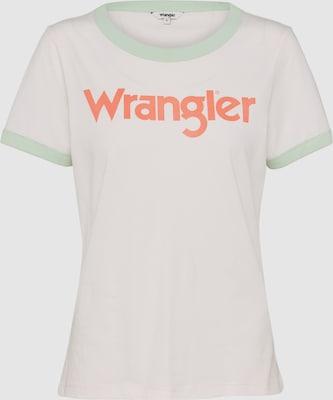 WRANGLER Shirt 'RETRO KABEL' in Champagne / Mintgroen / Sinaasappel