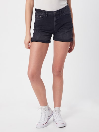 EDC BY ESPRIT Shorts in black denim, Modelansicht