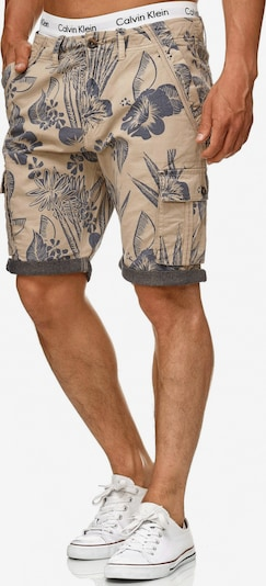 INDICODE JEANS Shorts 'Albert' in beige / dunkelgrau, Produktansicht