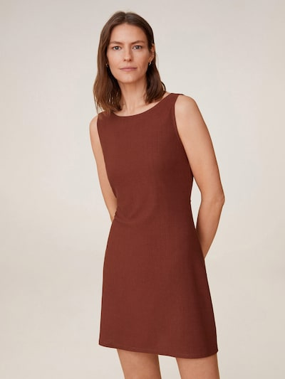 MANGO Kleid in rostbraun: Frontalansicht