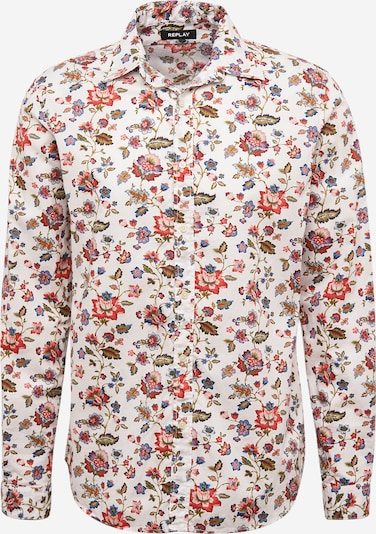 REPLAY Hemd in creme / mischfarben, Produktansicht