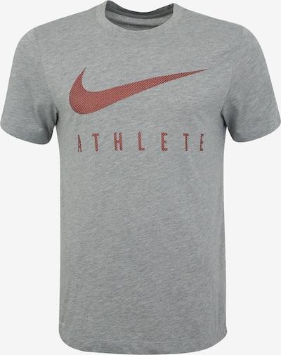 NIKE Koszulka funkcyjna 'M NK DRY TEE DB SWSH ATH SSNL' w kolorze szary / rdzawoczerwonym, Podgląd produktu