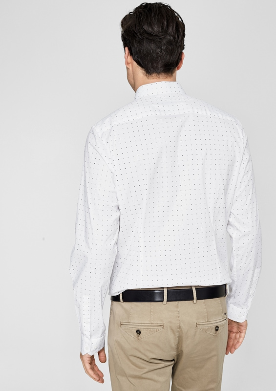 s.Oliver BLACK LABEL Slim: Hemd mit Label-Muster