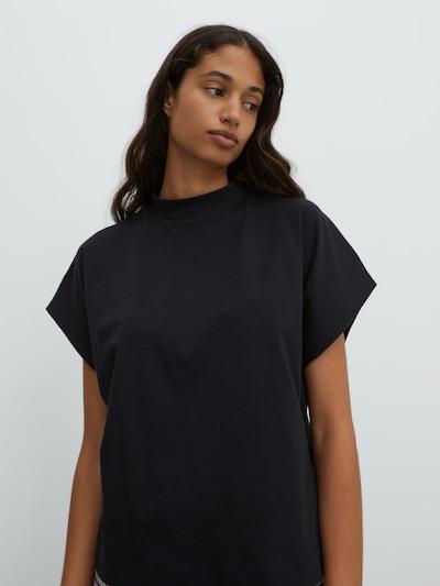EDITED Majica 'Valentina' u crna, Prikaz modela