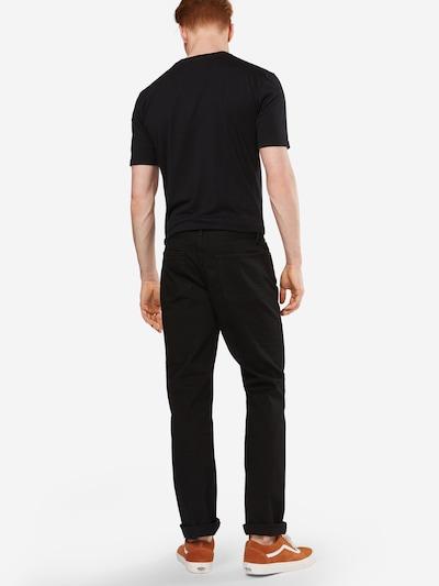 GAP Jeans 'V-STRAIGHT STR BLACK' in black denim: Rückansicht