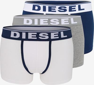DIESEL Trunks 'Damien' in ultramarinblau / graumeliert / weiß, Produktansicht