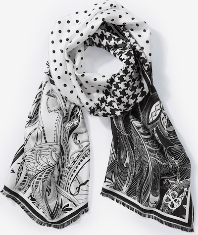 Basler Schal in grau / schwarz / weiß, Produktansicht