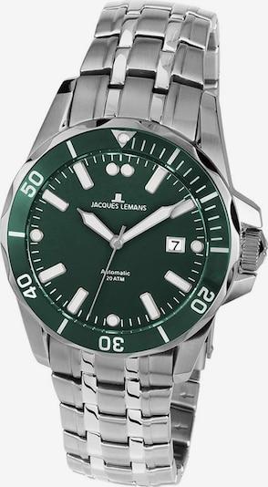 Jacques Lemans Uhr in dunkelgrün / silber, Produktansicht