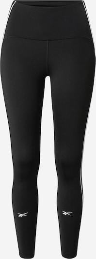 REEBOK Sporthose in schwarz / weiß, Produktansicht