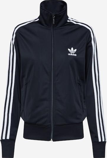 ADIDAS ORIGINALS Sweatjacke 'FIREBIRD TT' in schwarz / weiß, Produktansicht