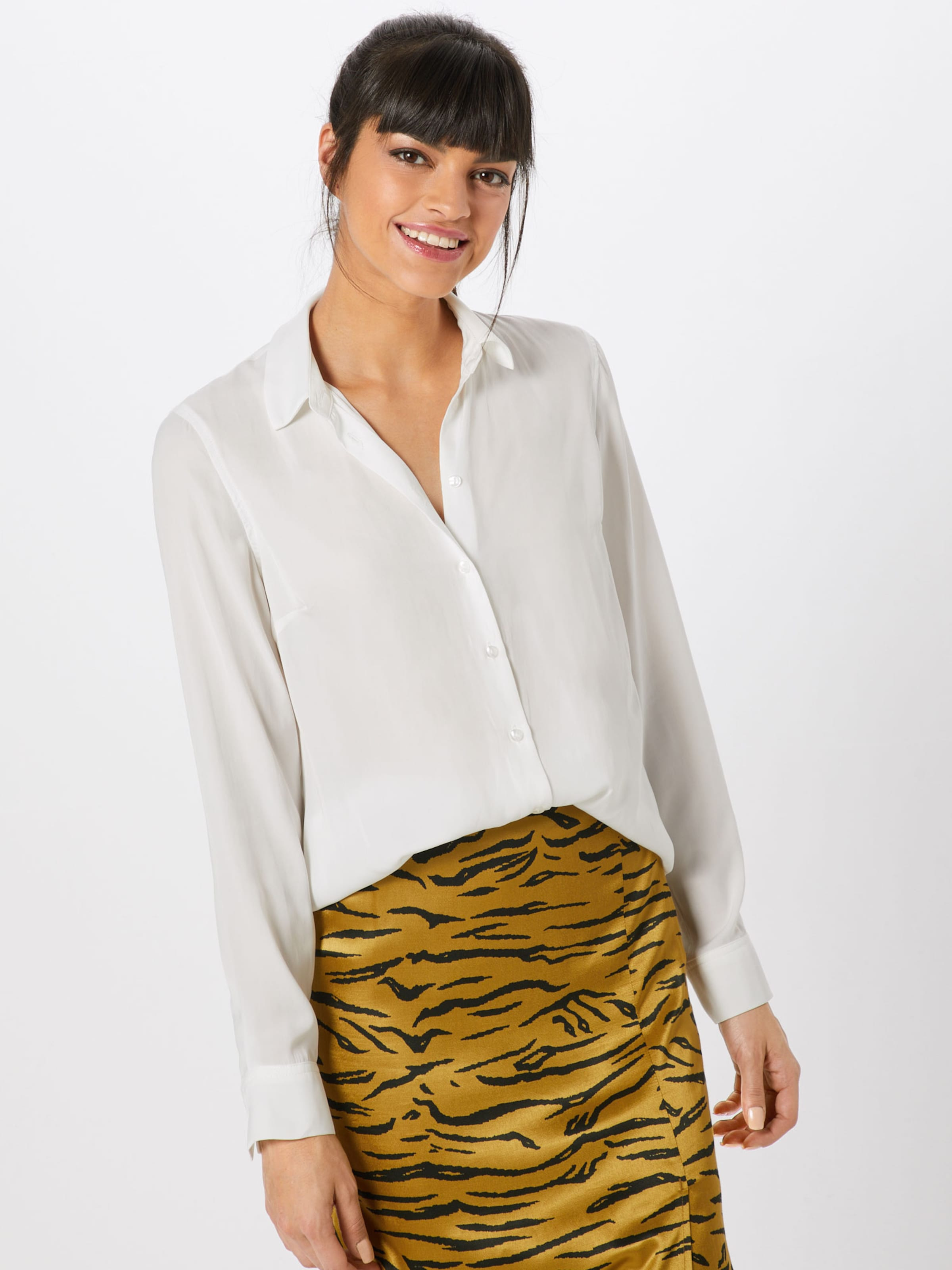 New Plain P8' Chemisier Ww Look Mattie Satin Blanc Ls '01 Shirt En 06 T rBEdoQeCxW