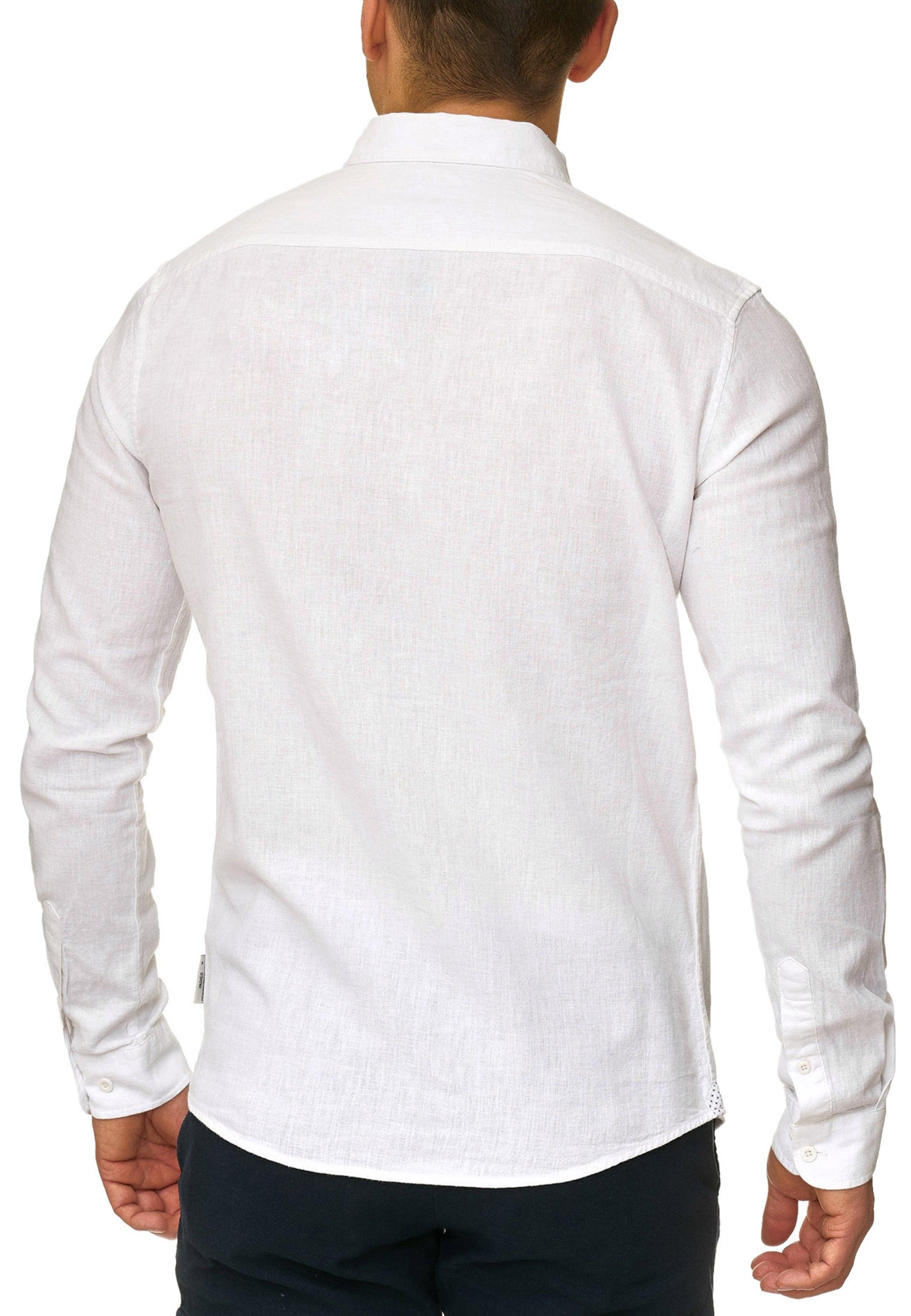 In Leinenhemd Weiß Jeans Indicode 'cundy' UpGzMLqSV