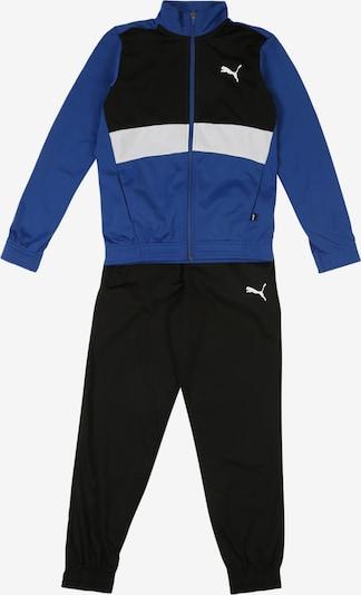 PUMA Trainingsanzug in blau / schwarz / weiß, Produktansicht