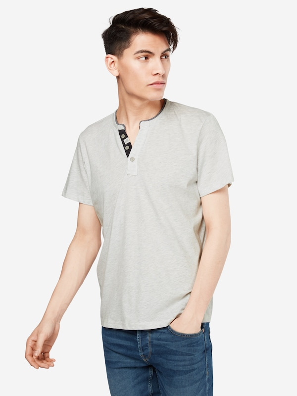TOM TAILOR T-Shirt 'NOS basic melange henley'