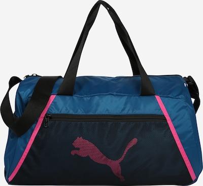 PUMA Sac de sport en bleu / rose / noir: Vue de face