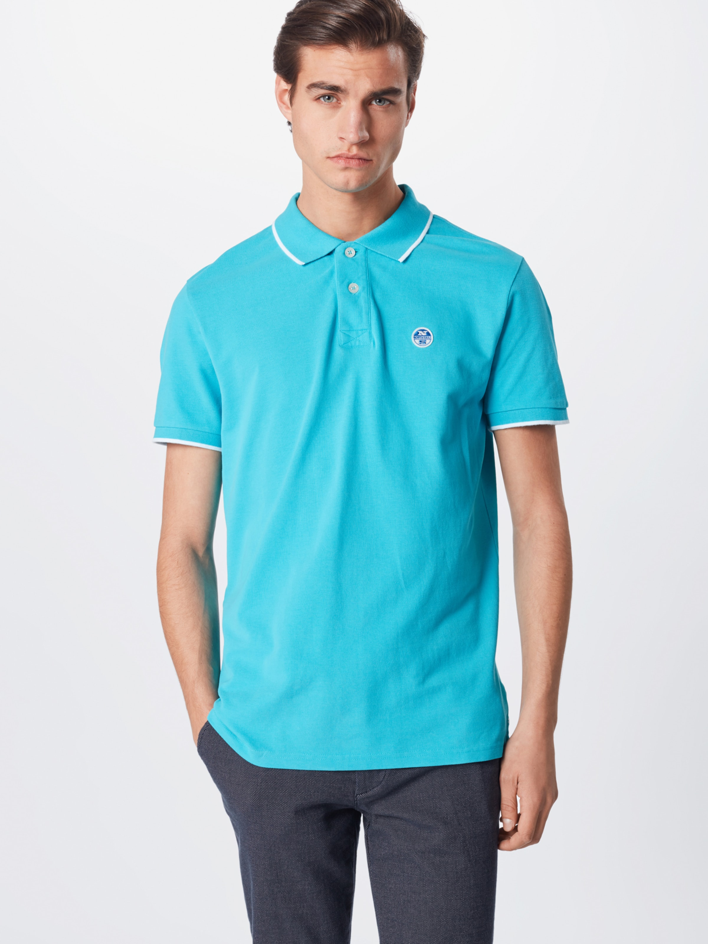 s 'polo graphic' S North Shirt W Sails In Blau rBCxoed