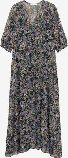 MANGO Kleid 'malva' in braun / grün / lila / mischfarben / schwarz, Produktansicht
