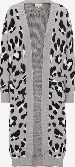 MYMO Strickjacke in grau / schwarz / weiß, Produktansicht