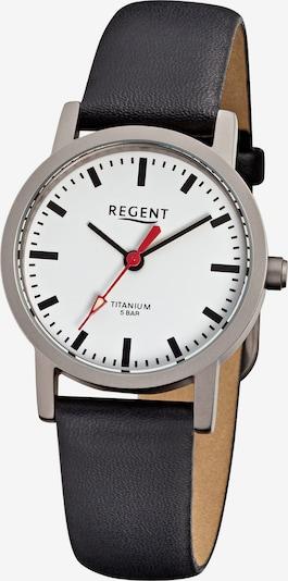 REGENT Armbanduhr in silbergrau / schwarz, Produktansicht