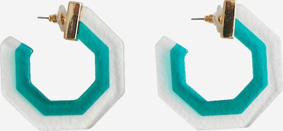 EDITED Oorbellen 'Tarnby' in de kleur Groen / Transparant, Productweergave