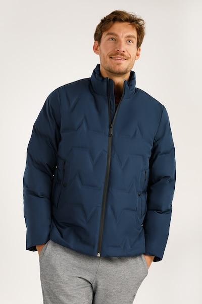 Finn Flare Winterjas in de kleur Blauw, Productweergave