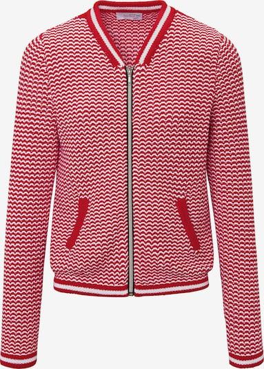 Looxent Strickjacke in rot / weiß, Produktansicht