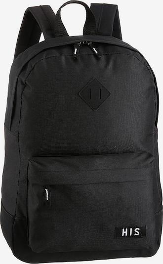 HIS JEANS Rucksack in schwarz / weiß, Produktansicht